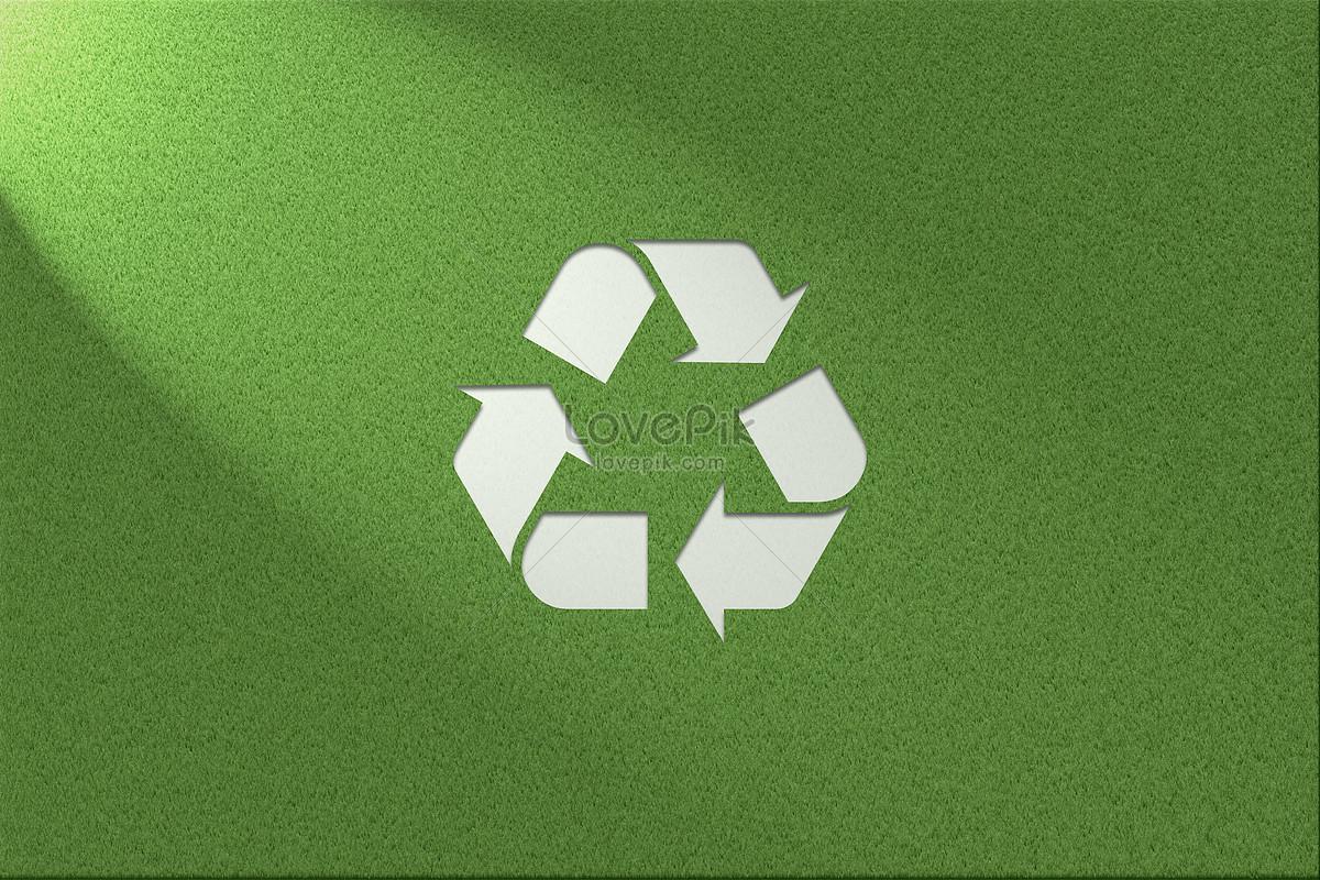 Yeşil çevre Sağlığı çim Arka Plan çöp Geri Dönüşüm Logosu