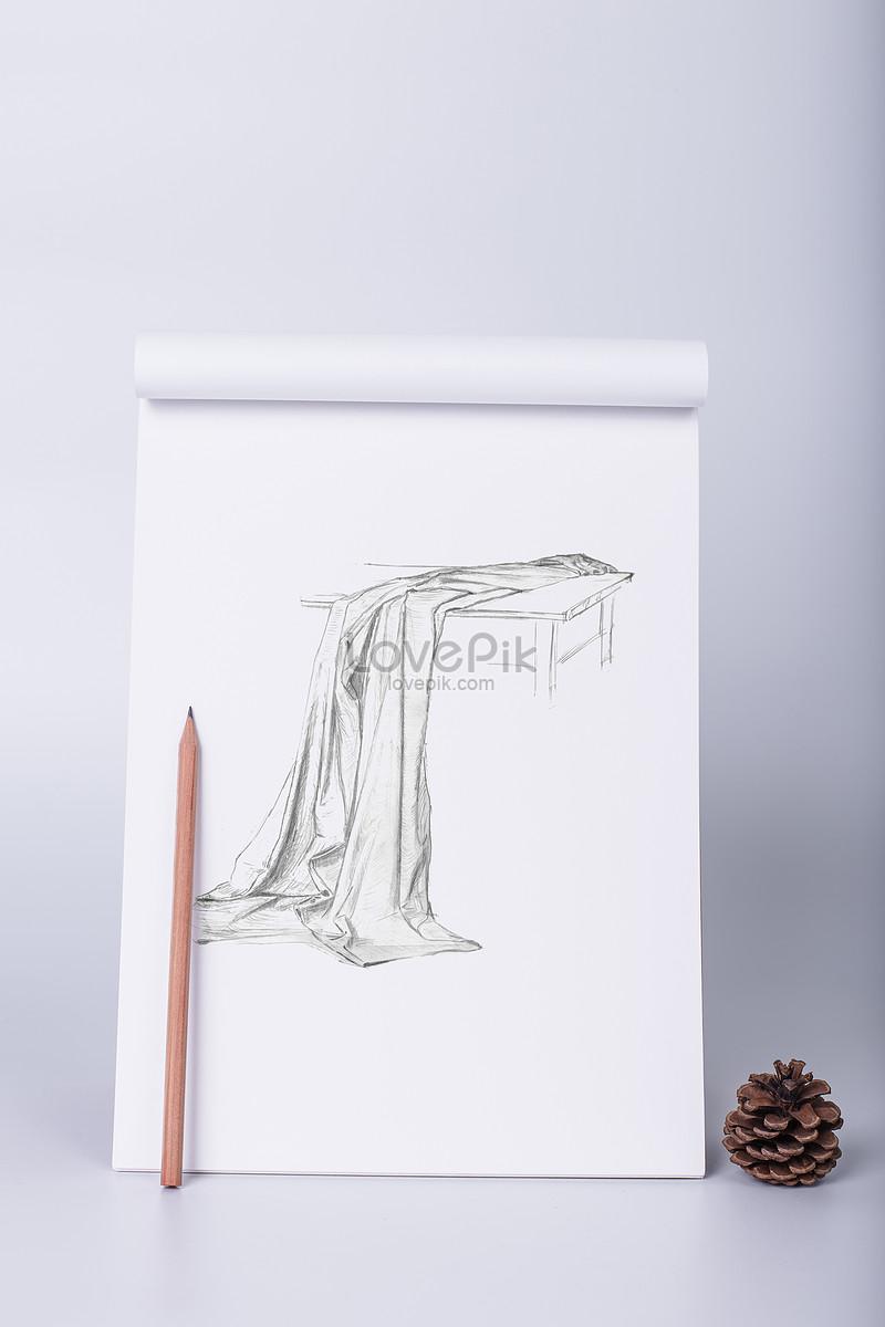 Lakaran Lukisan Pensil Pada Sketsa Gambar Unduh Gratisimej
