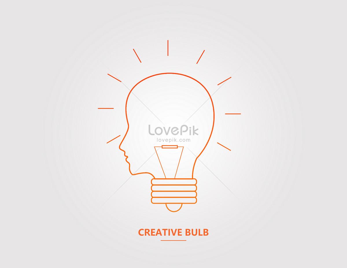 Creative Brain Light Bulb