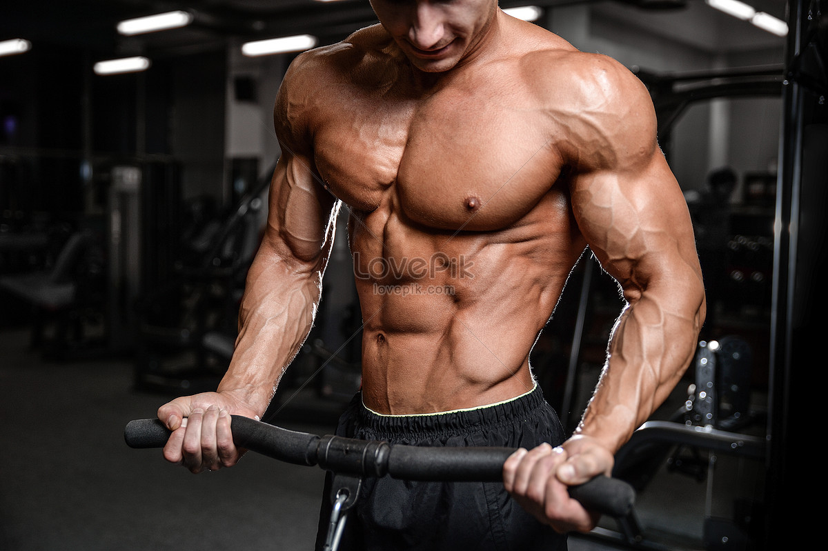 A Man Who Exercises The Abdominal Muscles Photo Imagepicture Free