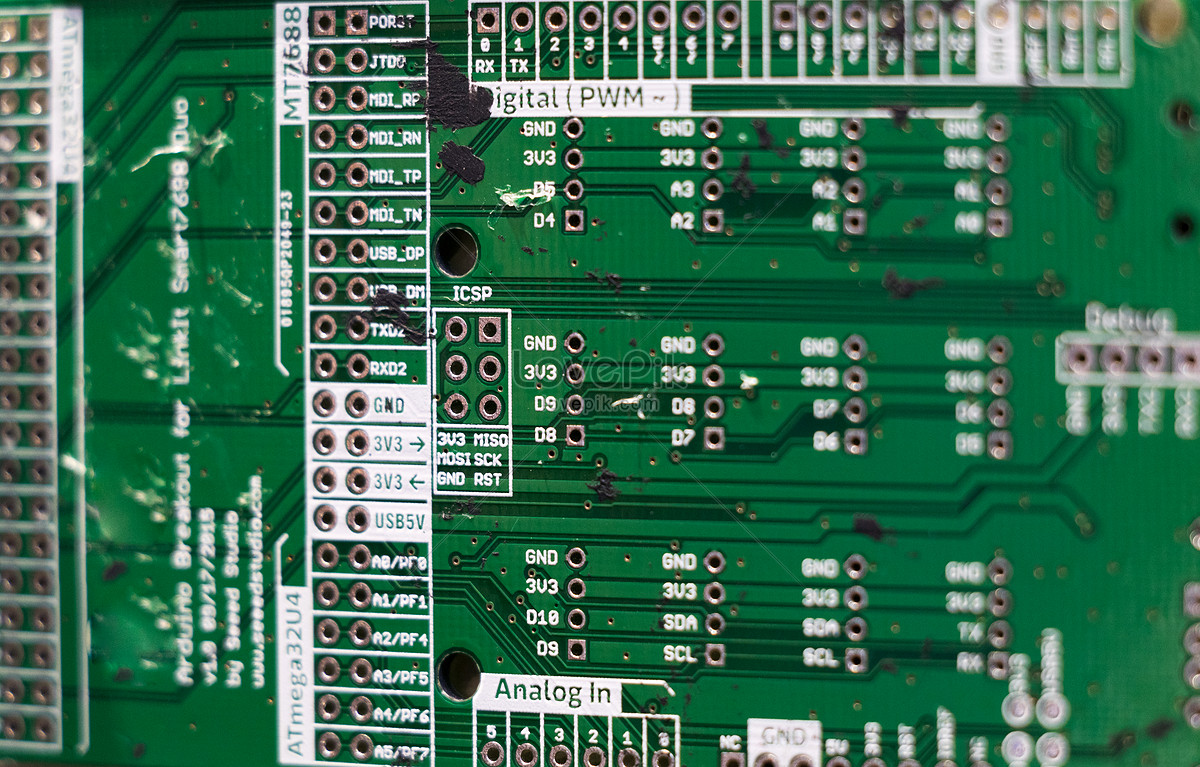 Integrated Circuit Board Feature Photo Image Picture Free Download