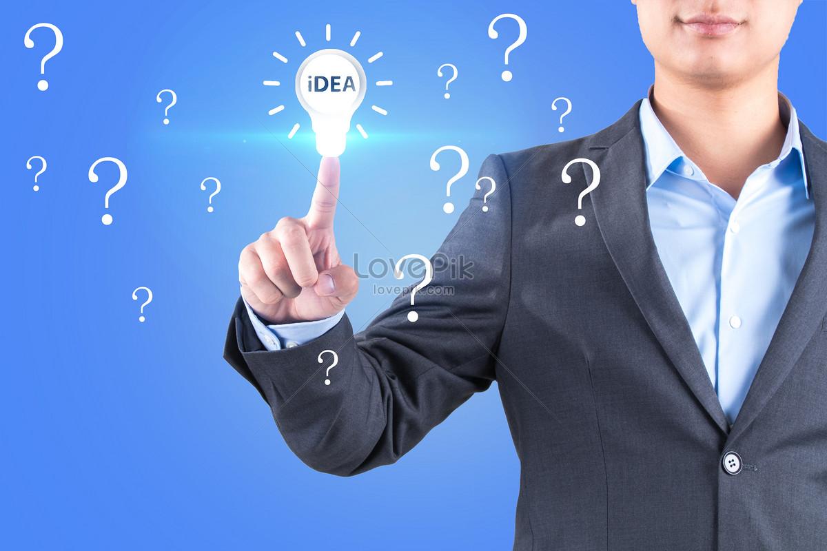 Business Person Creative Light Bulb Idea