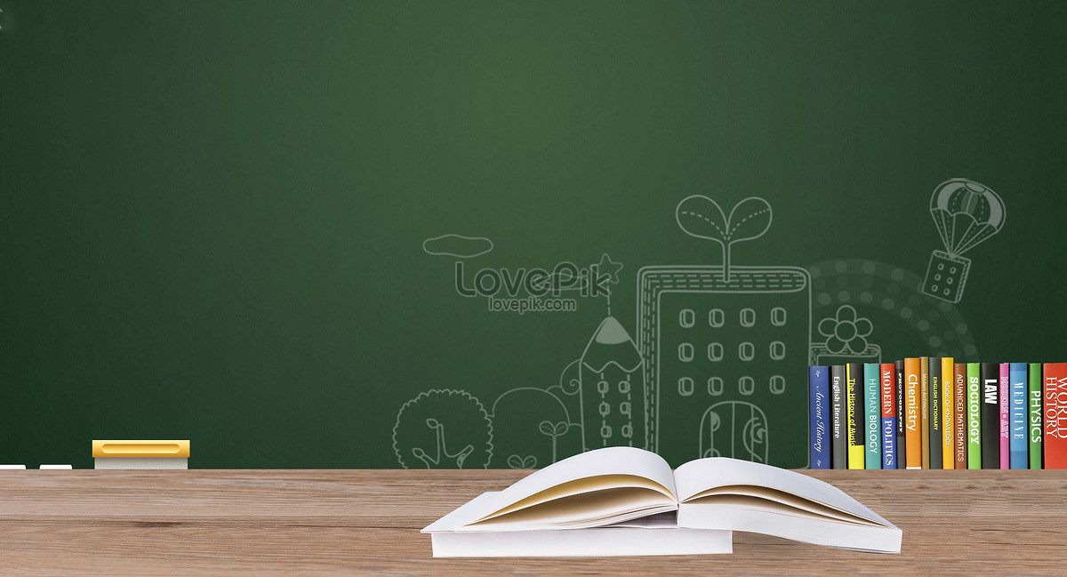 blackboard book education background creative image