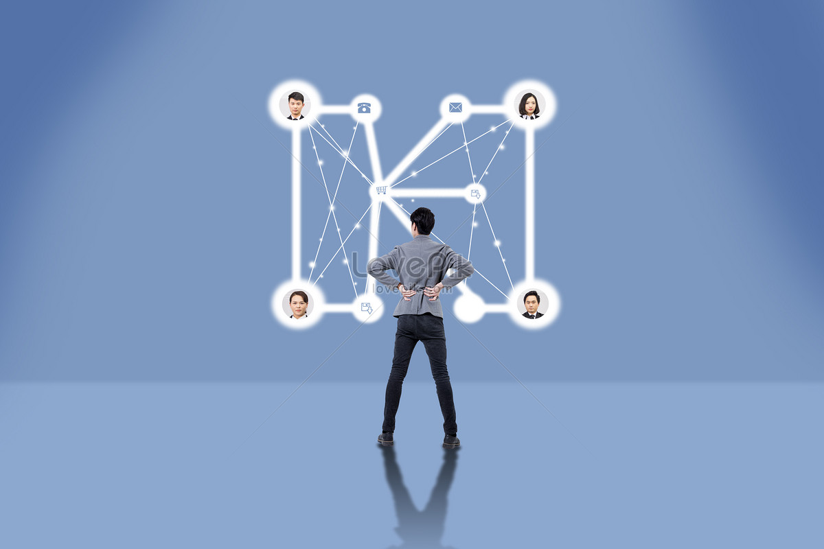 Watch the network connection diagram creative image_picture free ...
