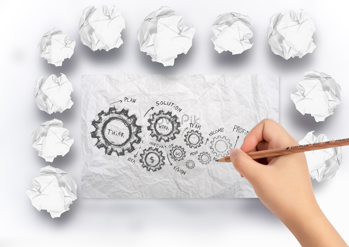 Draw a sketch on the paper creative image_picture free download
