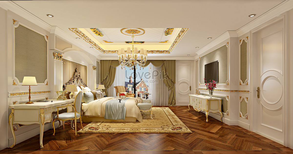 Interior Design Effect Map Of European Style Bedroom