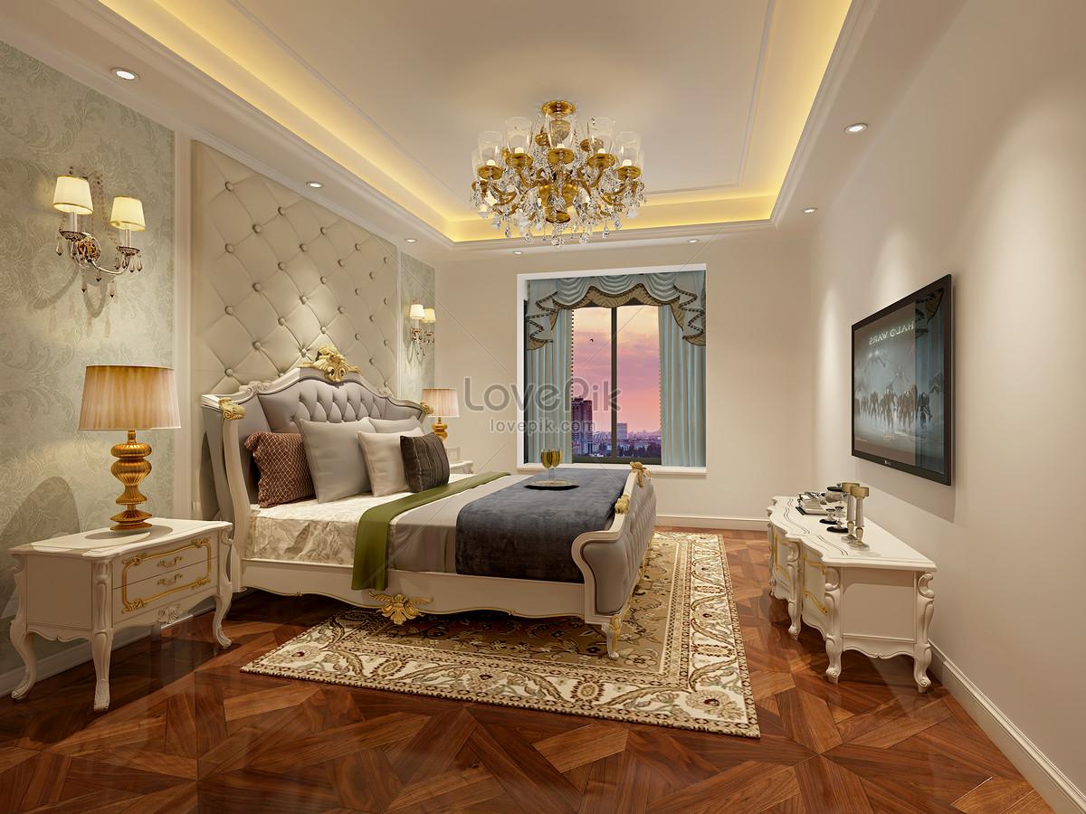 Interior Design Effect Map Of European Style Bedroom