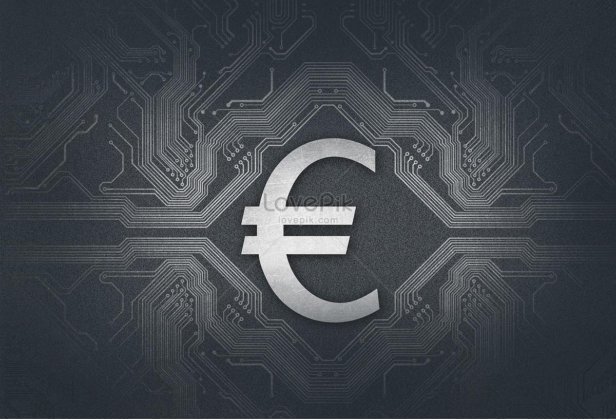 Euro Currency Symbol Technology Circuit Board Finance Creative