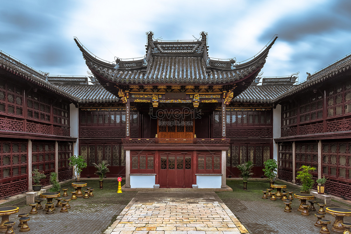 Traditional Courtyard Background Of Ancient Chinese Architecture