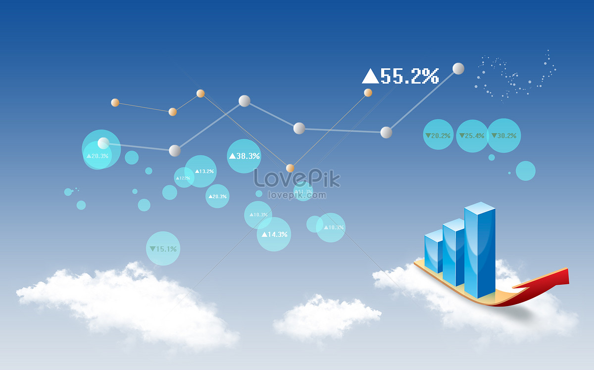 stock market data analysis creative image picture free download