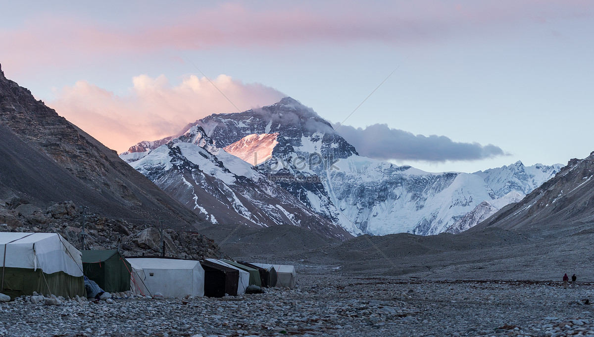 Pemandangan Tibet Everest Sunrise Gambar Unduh Gratisimej