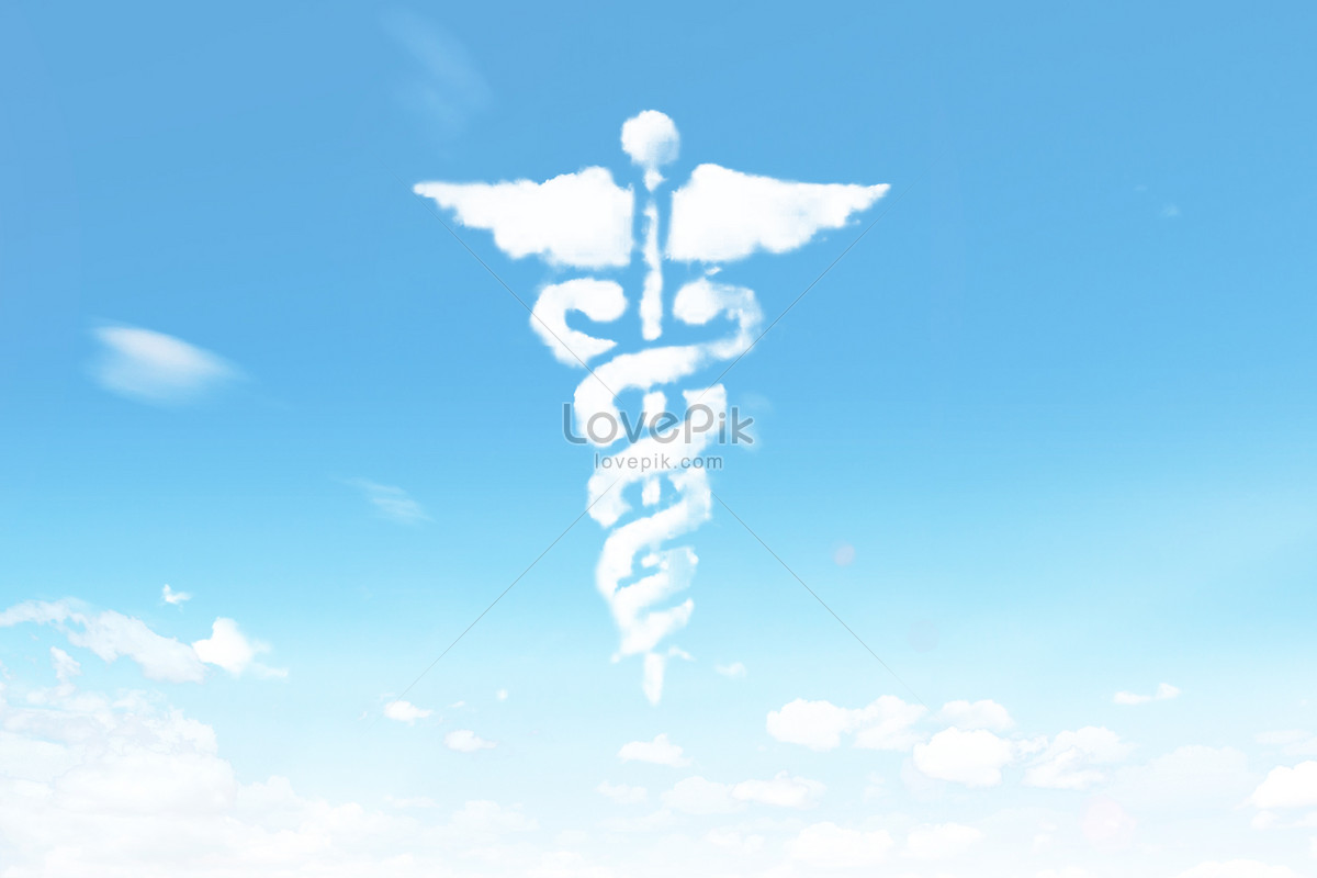 The Cloud Shape Symbol Of Medical Staff Creative Imagepicture Free
