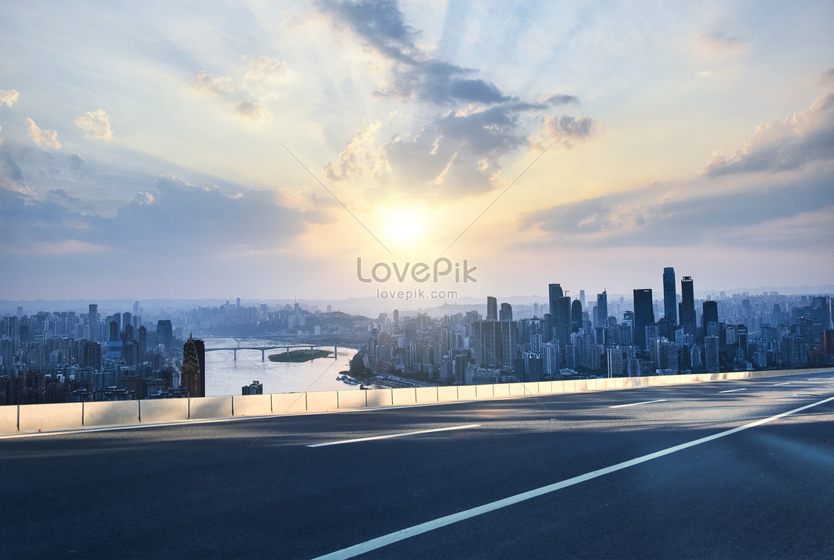 ground background of urban highway creative image picture free