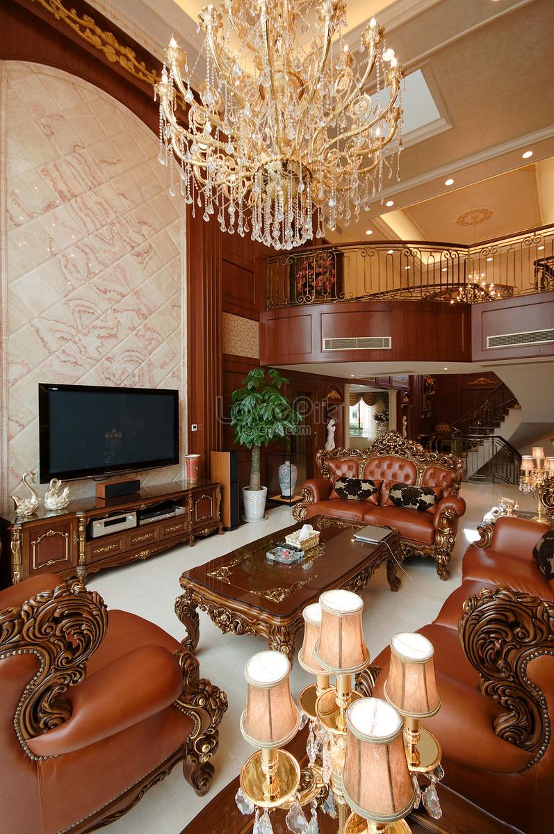 Photo de décoration de salon classique européen_Numéro de l ...