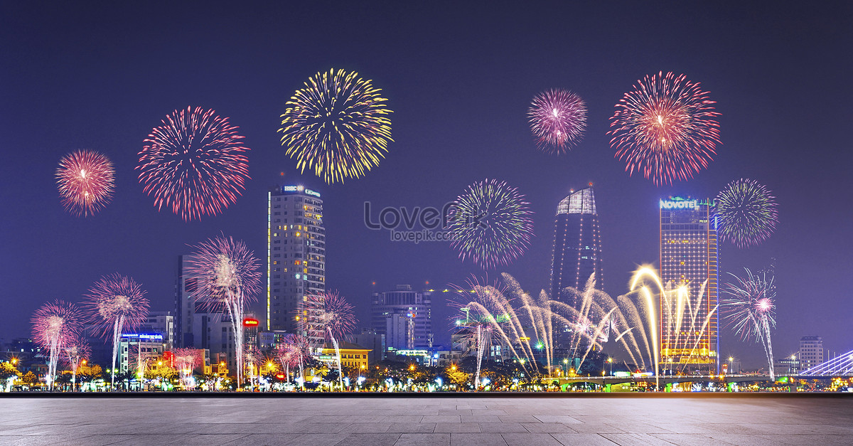 New Year Fireworks Backgrounds Image Picture Free Download