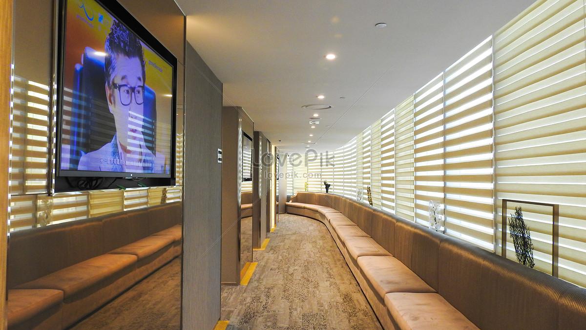 Photo de zone de bureaux de couloir intérieur darchitecture