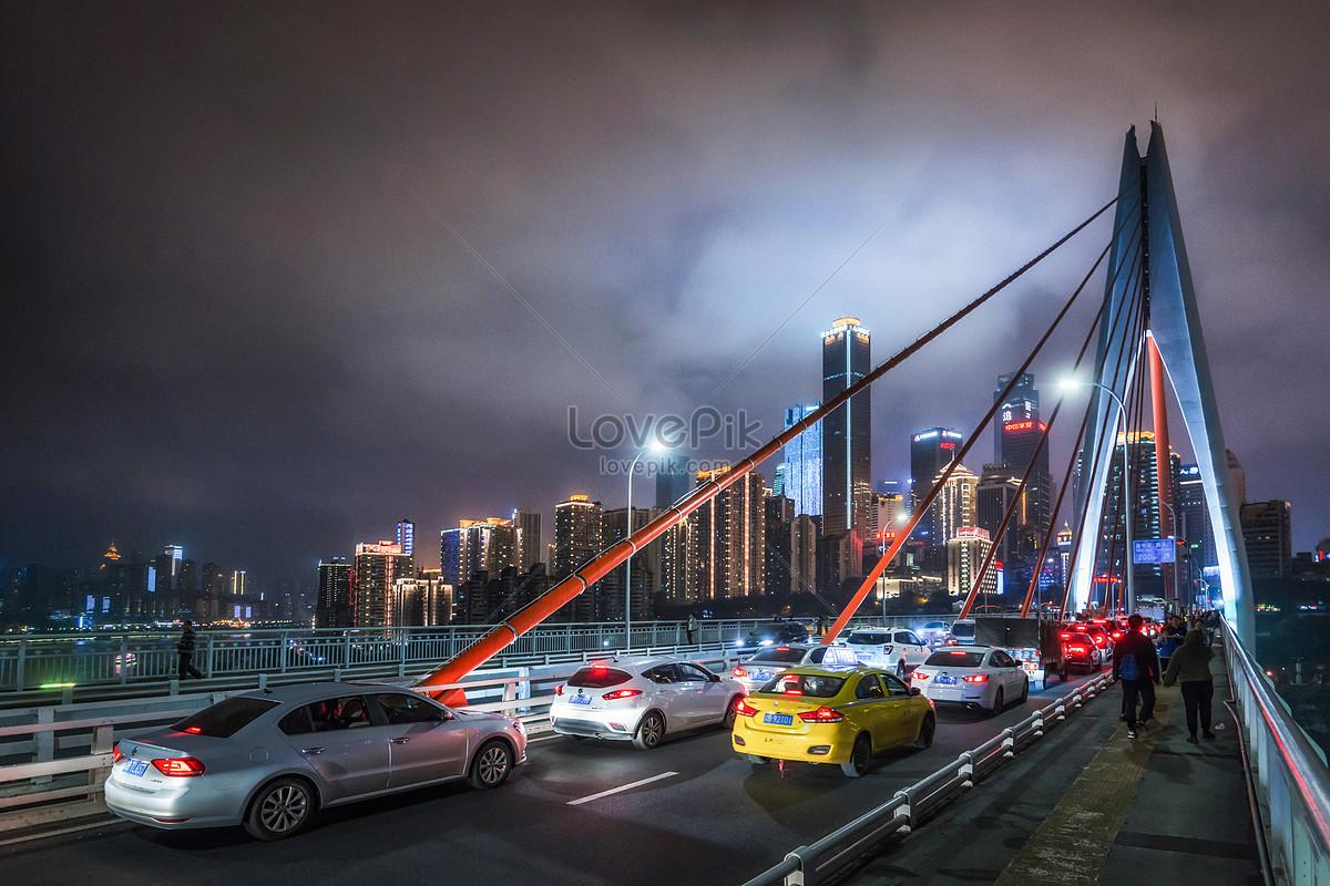 Cầu Thiên Niên Kỷ Cửa Ban Đêm Trùng Khánh