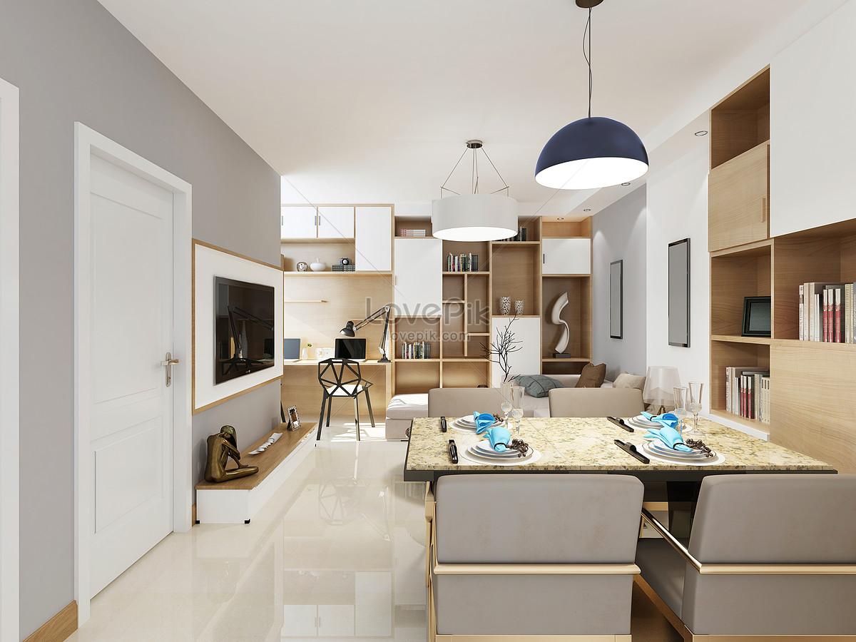 Modernos apartamentos peque os representaciones de la sala for Muebles de cocina modernos pequenos