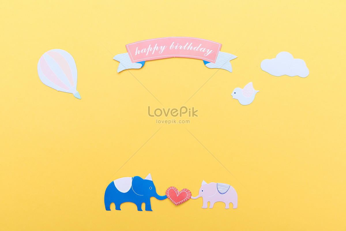 voi màu vàng sáng tạo của nền hoạt hình ảnh