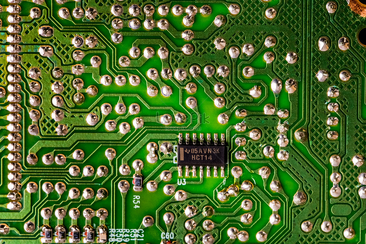 The Back Of An Integrated Circuit Board Photo Image Picture Free Images What Is