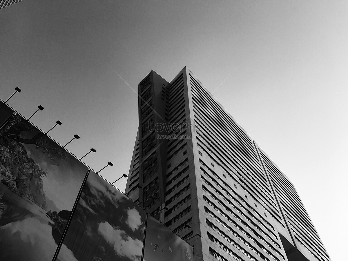 modern architectural photography of black and white wind photo