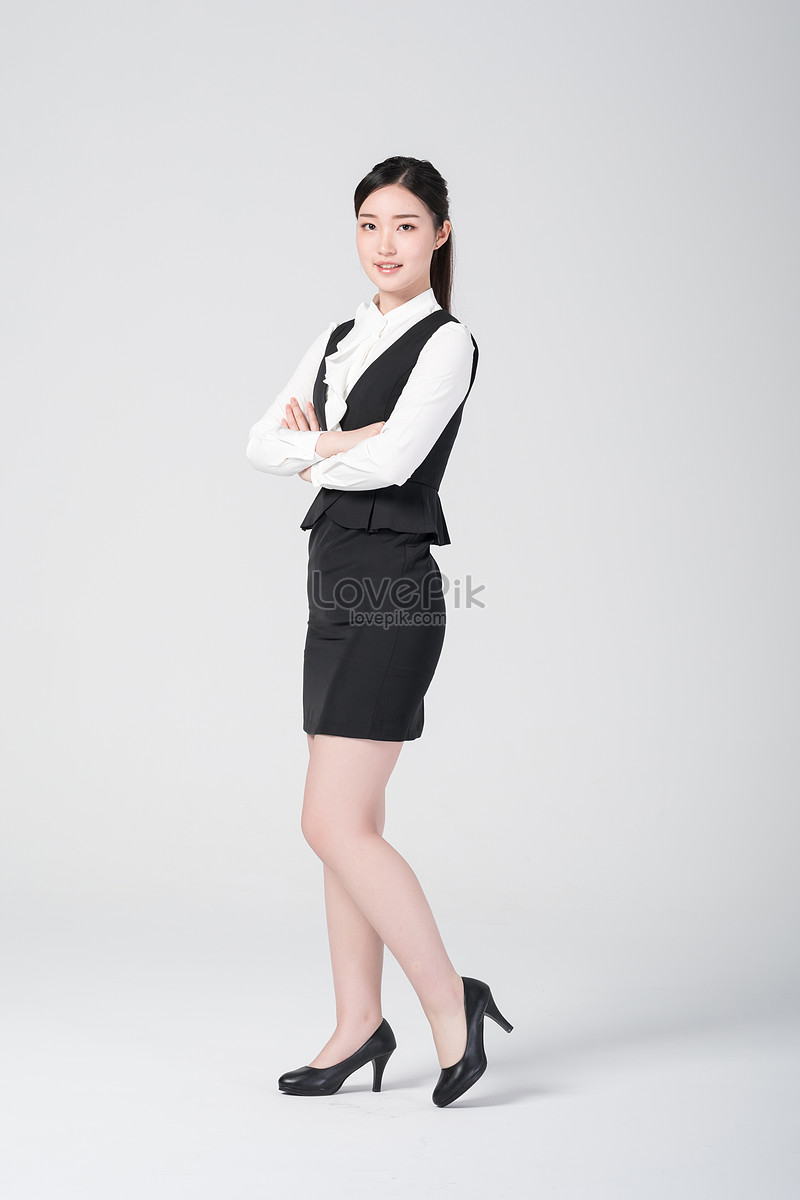 Self Confident Career Women Wear Professional Dress Photo