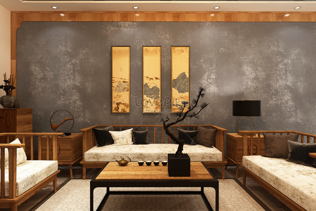 Design Of The Space Scene Of Chinese Living Room