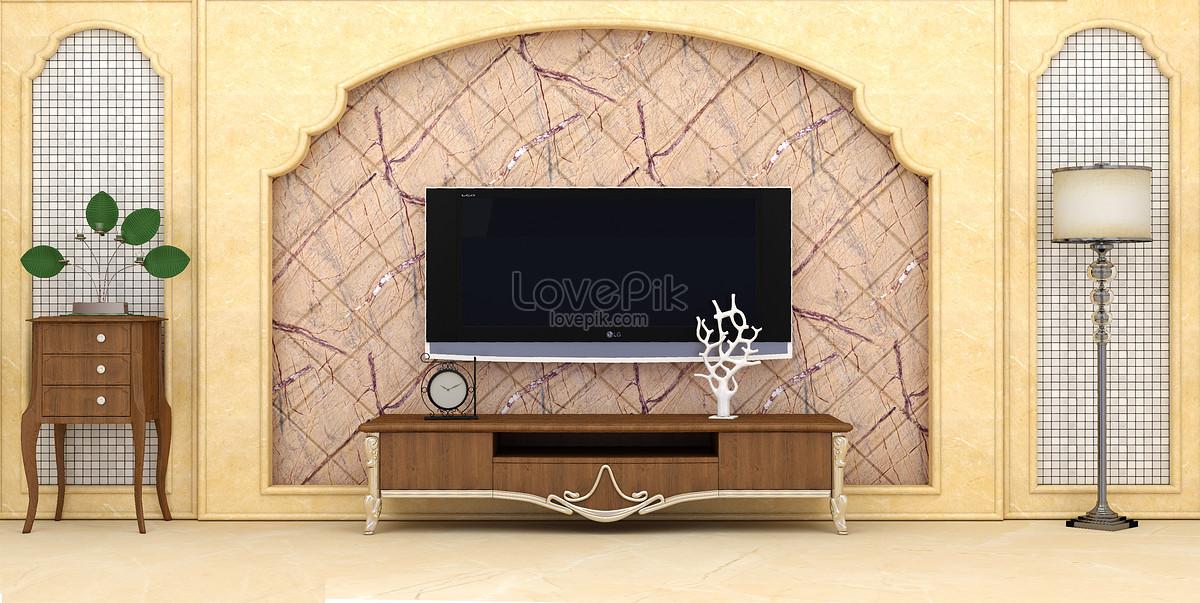 Tv In Muur : Woonkamer tv muur achtergrond gratis afbeelding downloaden
