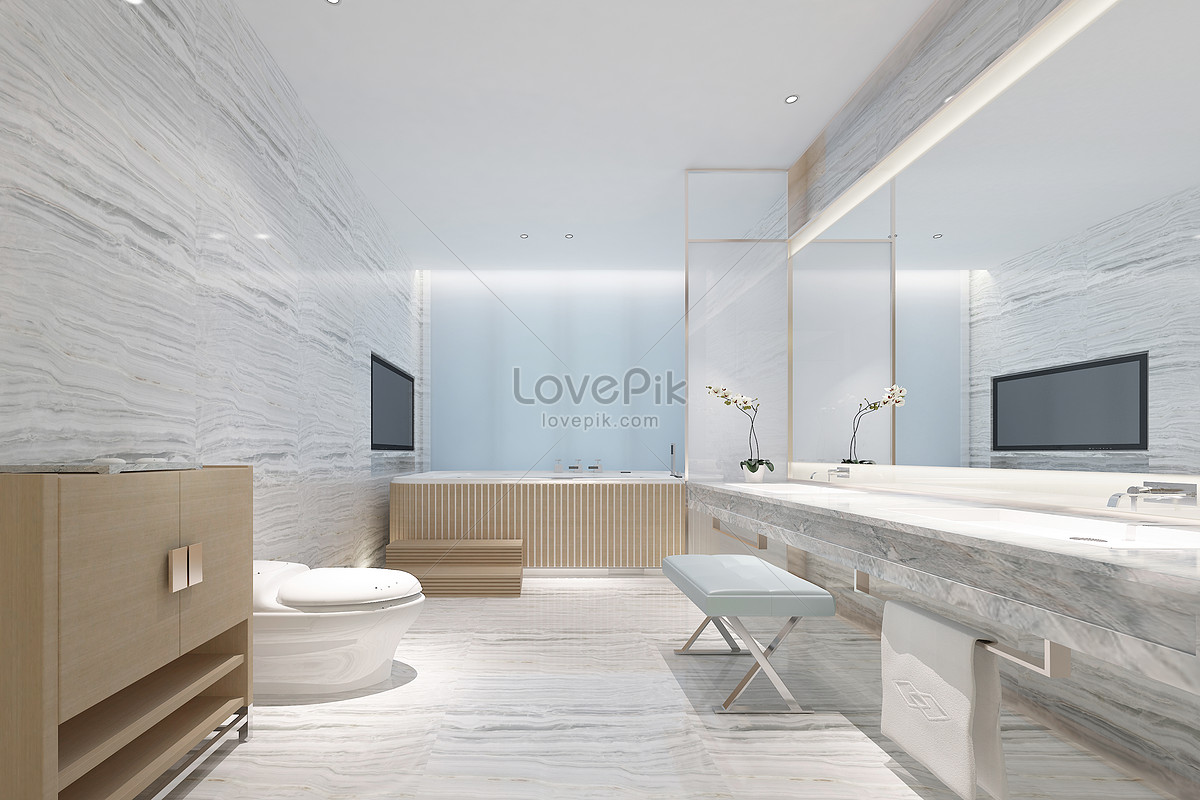 Nordic bathroom renderings creative image_picture free download ...
