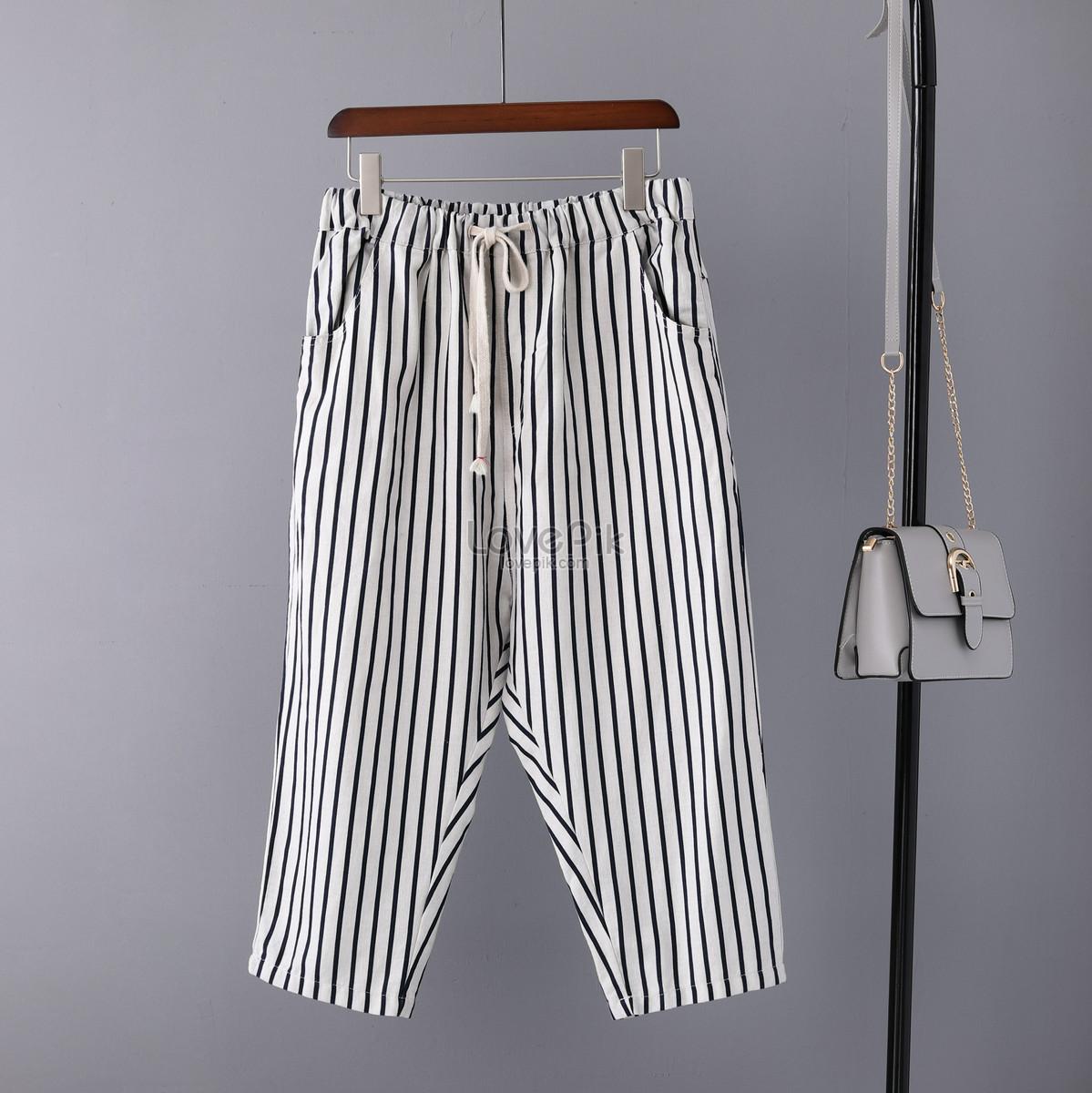 0c50ab9316ee4 pantalones anchos de algodón y lino para mujer pantalones cortos ...