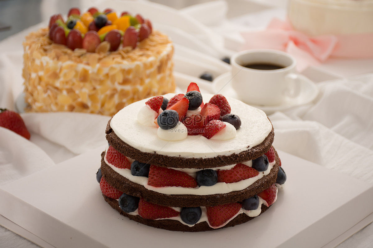 Fruit Birthday Cake Photo Imagepicture Free Download