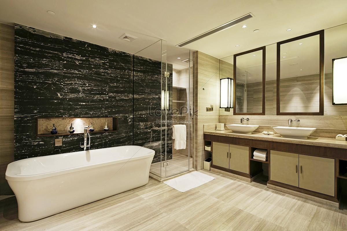 Photo De Salle De Bain Noir Et Blanc photo de rendus modernes de salle de bains gris noir et