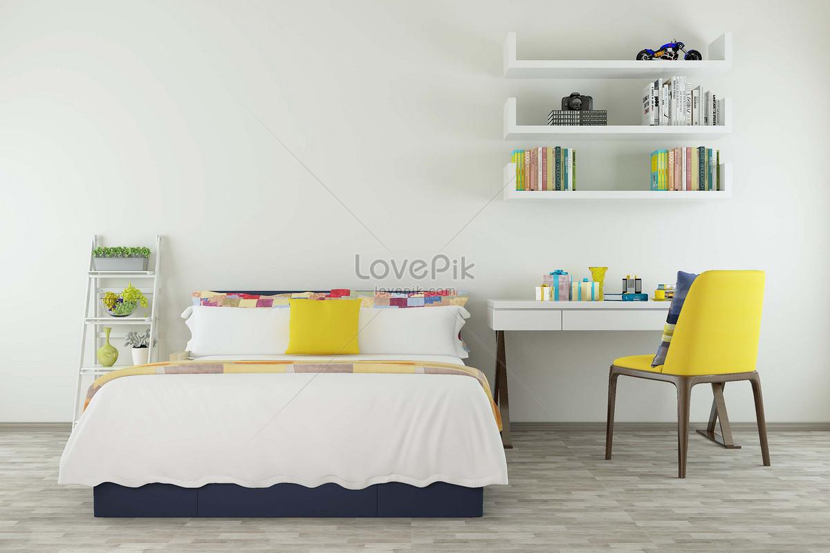casa camera da letto semplice Immagine Gratis_Creativo numero ...