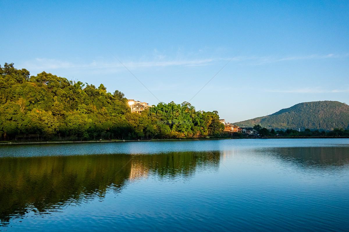 Yunnan Tengchong Heshun Pemandangan Alam Semulajadi Kota Kuno Gambar